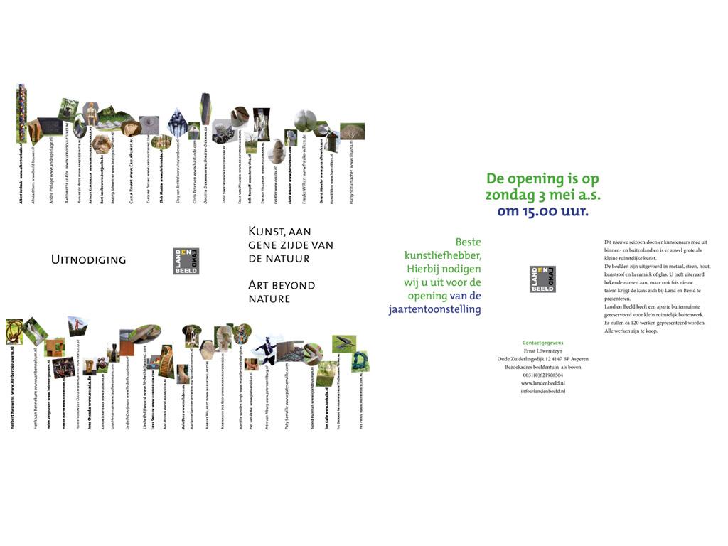 'Kunst aan gene zijde van de natuur', Land en Beeld